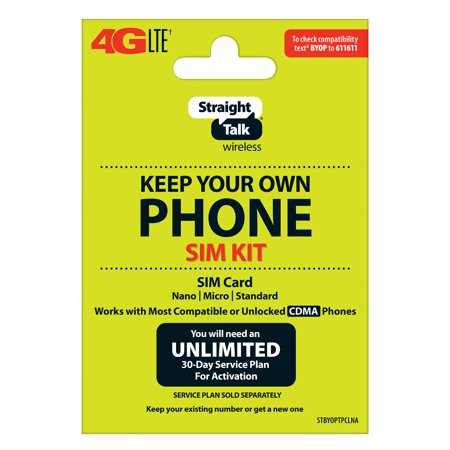 Straight Talk SIM Card for Verizon Tower CDMA Network 3-in1 Cut