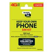 Straight Talk SIM Card for Verizon Tower CDMA Network 3-in1 Cut (/Nano/Micro/Standard)