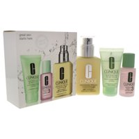 Great Skin 3-Step Skin Care System - Combination Oily Skin by Clinique for Unisex - 3 Pc Kit