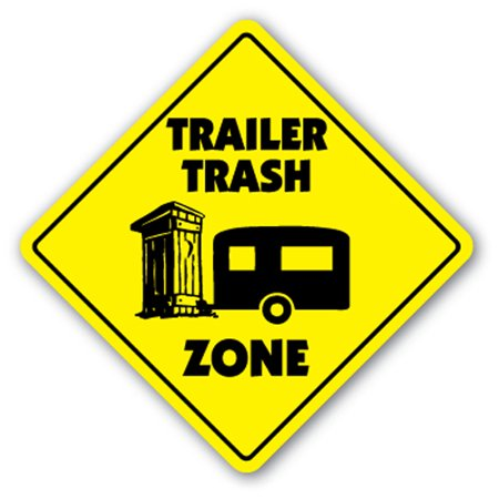 Trailer Trash Street [3 Pack] of Vinyl Decal Stickers | Indoor/Outdoor | Funny decoration for Laptop, Car, Garage , Bedroom, Offices | SignMission - Halloween Trailer Trash