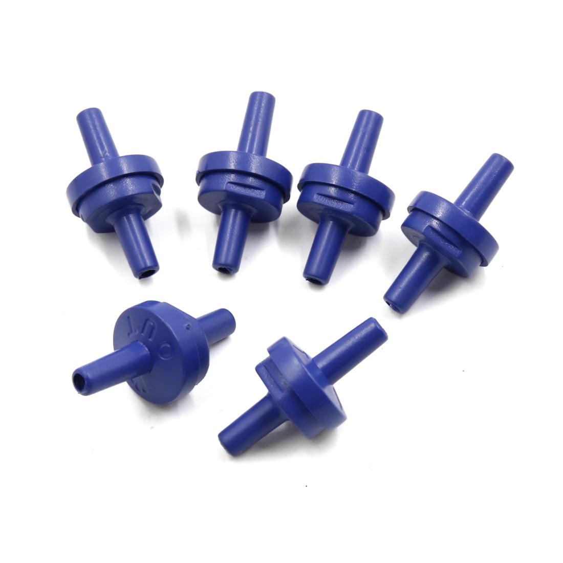 6pcs Blue Plastic One Way Check Valve Aquarium Air Pump Accessories Set