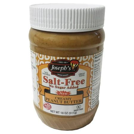 Josephs Salt Free Creamy Peanut Butter  18 Oz