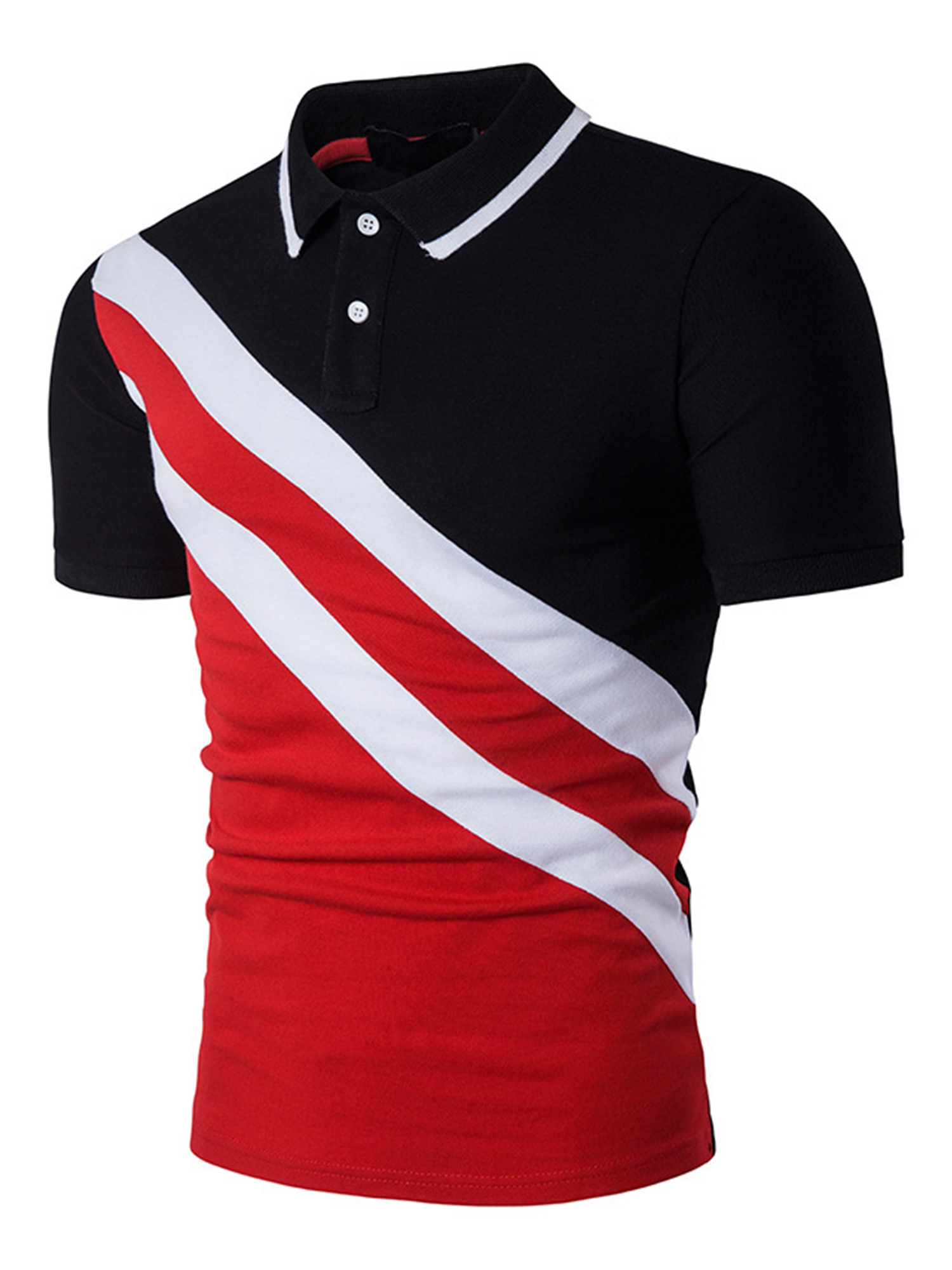 Details about  /NEW LADY/'S NO BOUNDARIES CLASSIC  RED 5 BUTTON SHORT SLEEVE POLO COTTON  SHIRT