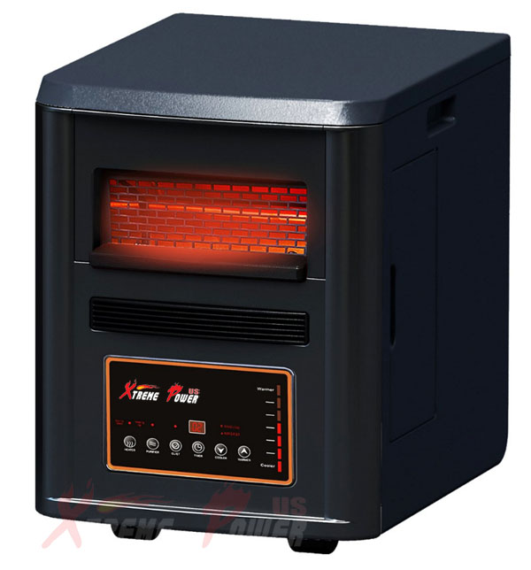4 in1 Air Purifier Humidifier Quartz Infrared Heater Plasma Inverter 1500W, Black