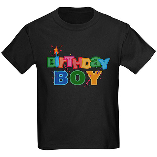 CafePress Birthday Boy Letters Kids' Graphic Tee
