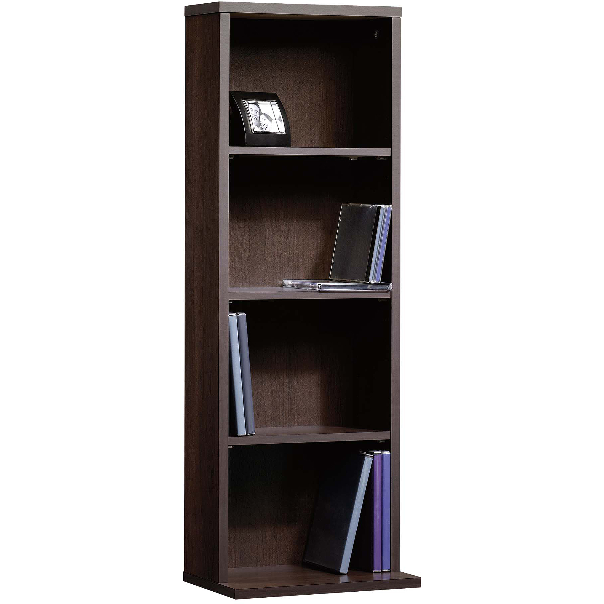 Sauder Beginnings Multimedia Storage Tower, Cinnamon Cherry   Walmart.com