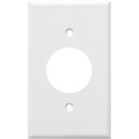 Morris Products 81611 Lexan Wall Plates 1 Gang Single Receptacle White - image 1 of 1