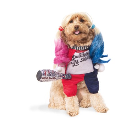 Suicide Squad Harley Quinn Pet Halloween Costume (Pet Halloween Costumes Uk)