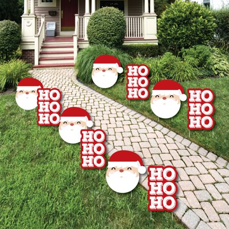 Jolly Santa Claus - Santa Claus Lawn Decorations - Outdoor Christmas Yard Decorations - 10 Piece ()