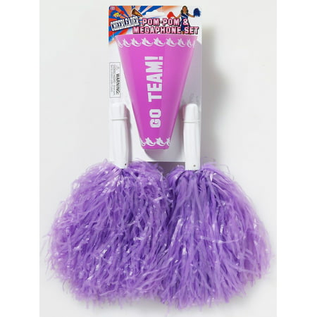 efd14b41bbe6 Purple Pom-Pom Megaphone Halloween Costume Accessory Set