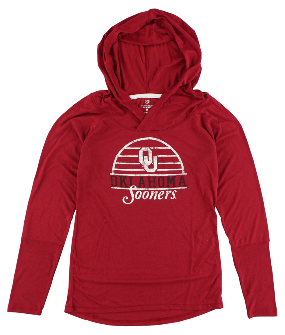 Colosseum Womens Oklahoma Sooners Liftie Long Sleeve T Shirt Red by