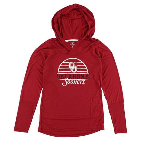 Colosseum Womens Oklahoma Sooners Liftie Long Sleeve T Shirt Red