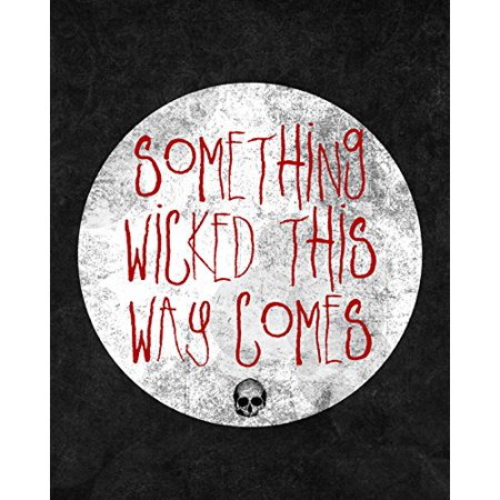 This Is Halloween Film (Something Wicked This Way Comes Print Moon Skeleton Picture Halloween Wall Decoration Seasonal)