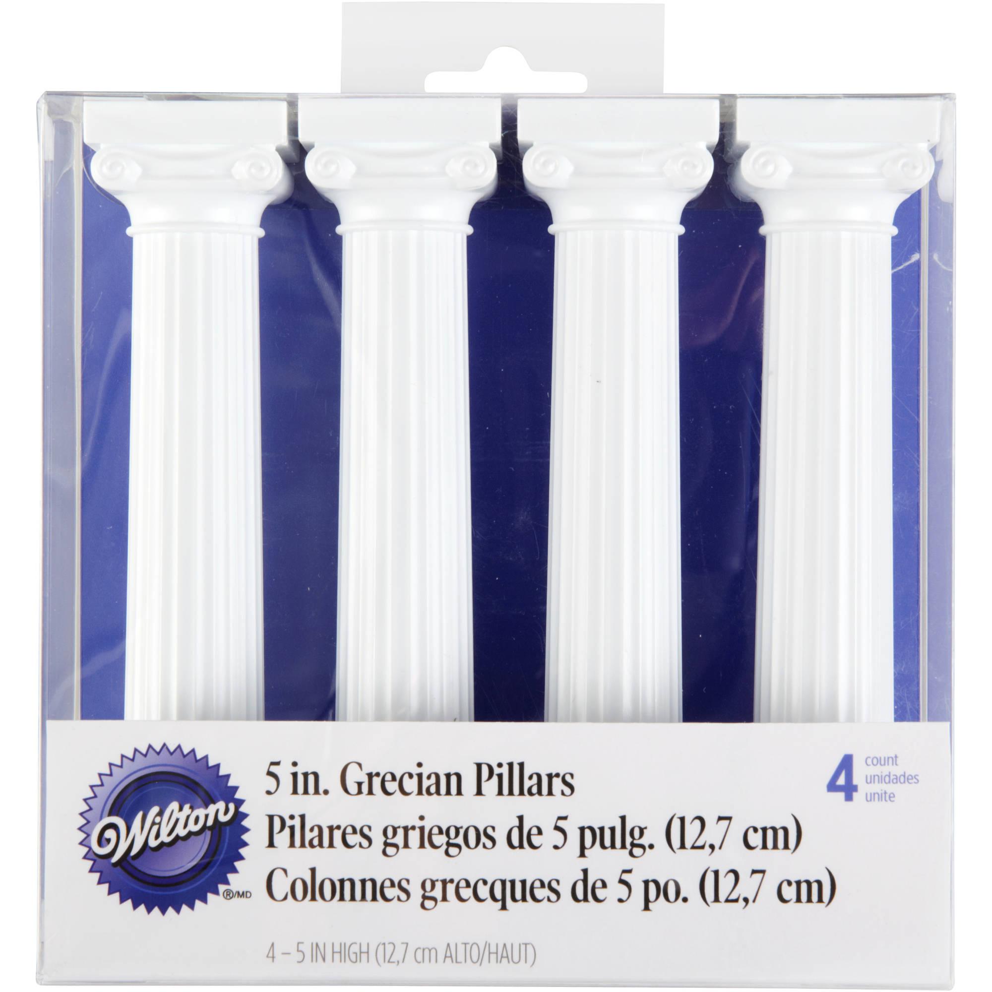 "Wilton 5"" Grecian Cake Pillars, 4 ct. 303-3703"