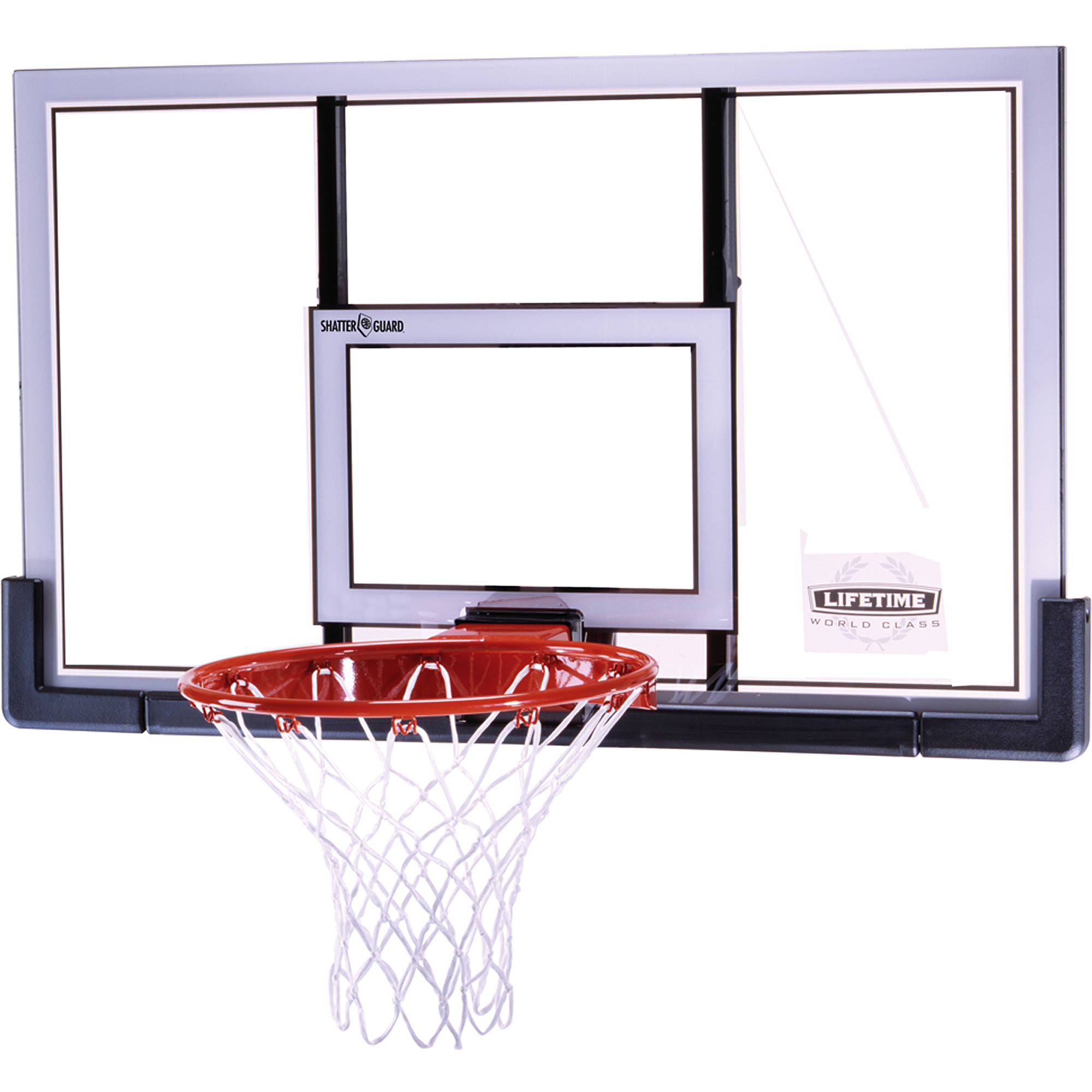 "Lifetime 73729 48"" Shatter Guard Backboard and Rim Combo"