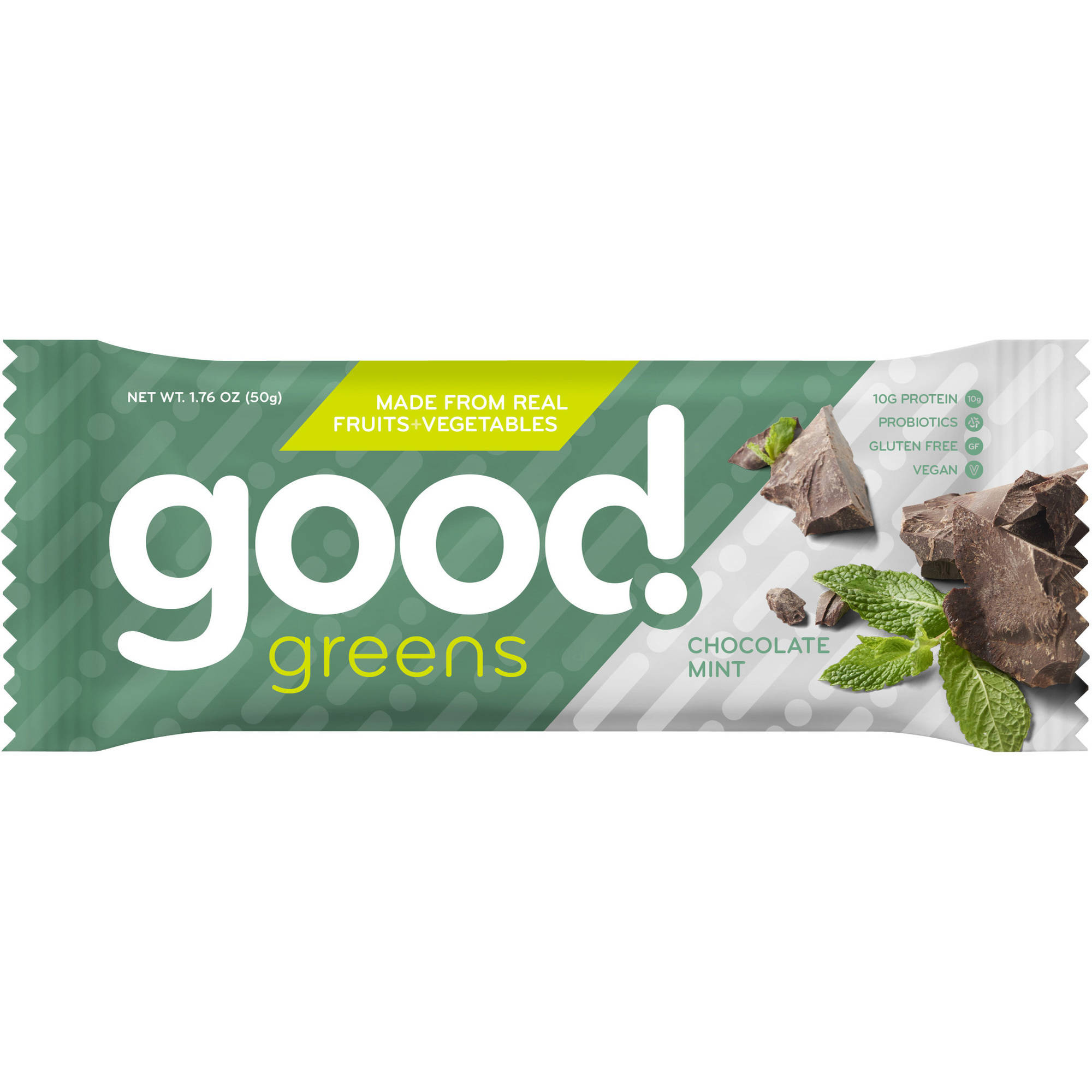 Good Greens Chocolate Mint Nutrition Bars, 1.76 oz, 12 count