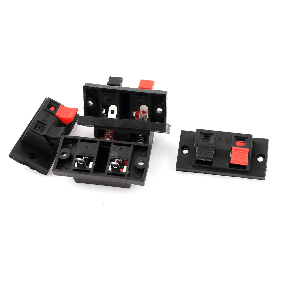 4 Way Speaker Terminal Push Release Connector Plate Amplifier Strip Block