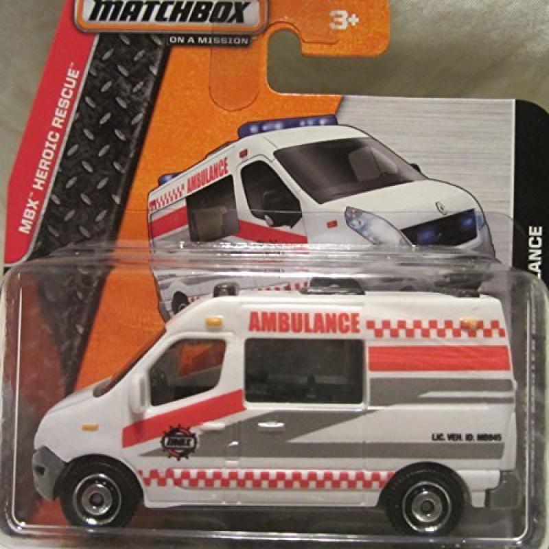 Matchbox 2014 MBX Heroic Rescue Renault Master Ambulance 80 120 Short Card by