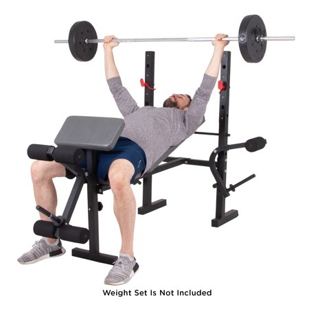 Body Champ Standard Weight Bench w/Butterfly