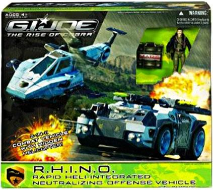 GI Joe The Rise of Cobra R.H.I.N.O. Rapid Heli-Integrated Neutralizing Offensive Vehicle by