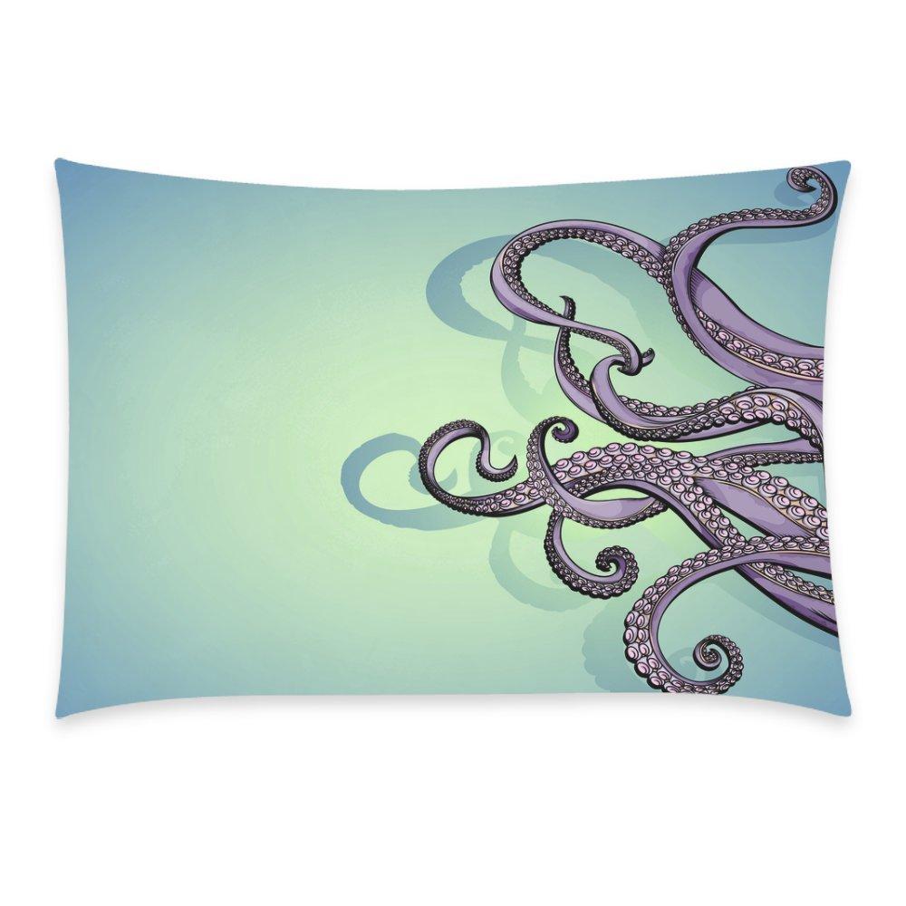 ZKGK Home Bathroom Decor Vintage Octopus Tentacle Pillowcases Decorative Pillow Cover Case... by ZKGK