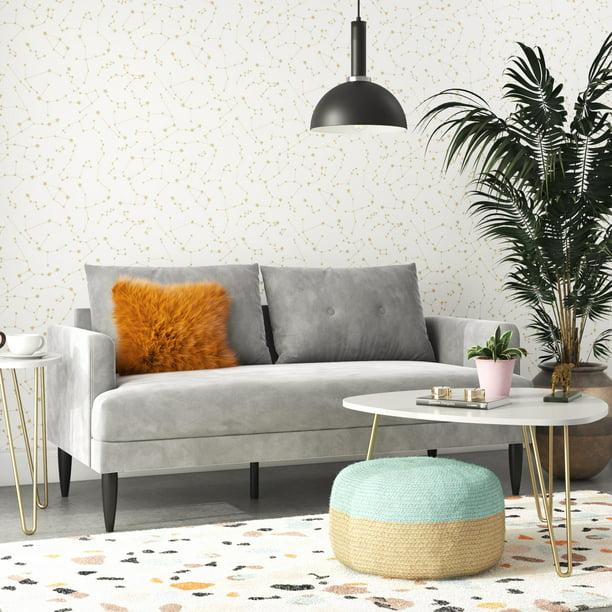 Novogratz Bailey Pillowback Loveseat, Modern Vintage Furniture
