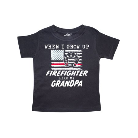 When I Grow up I want to be a Firefighter Like my Grandpa Toddler T-Shirt](I Dont Want To Grow Up)