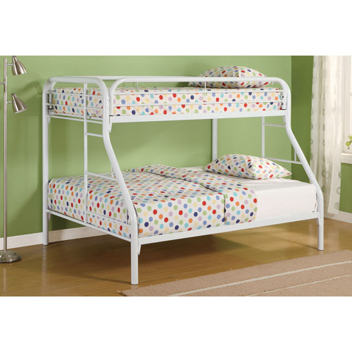 Coaster Twin Over Full Metal Bunk Bed with Side Ladders, Multiple Colors