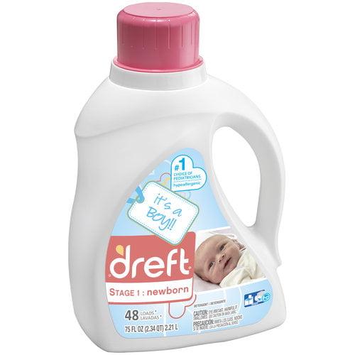 Dreft Stage 1: Newborn Liquid Detergent (HEC), 48 Loads 75 oz