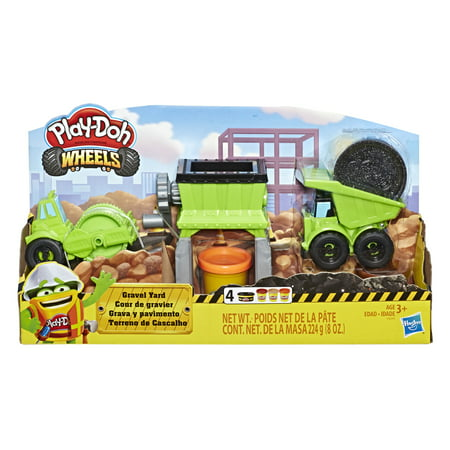 Play-Doh Wheels Gravel Yard Construction Toy Pavement Compound with 4 Cans of Dough](Halloween Playdoh)
