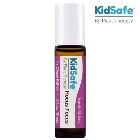 Plant Therapy KidSafe Hocus Focus Essential Oil Blend Pre-Diluted Roll-On 10 mL (1/3 oz) Pure- Kids Blend for Focus Therapy Oil Roll