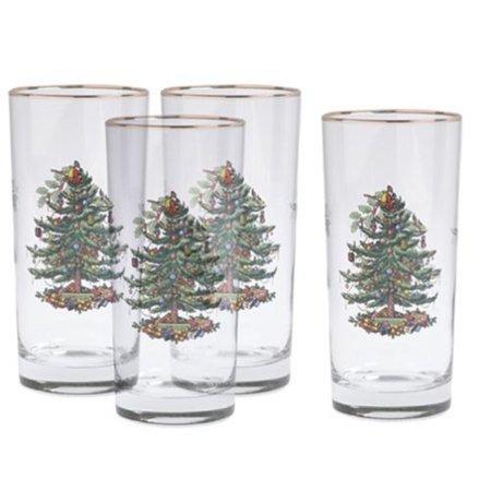 Christmas Drinking Glasses (spode christmas tree hiball glasses, set of)