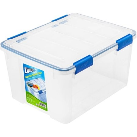 Ziploc 44 Qt./11 Gal. WeatherShield Storage Box, Clear (Available in a Case of 4 or Single Unit)