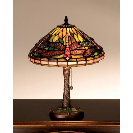 Meyda Tiffany - 27158 - Table Lamp - Tiffany Dragonfly - Mahogany Bronze-95pack