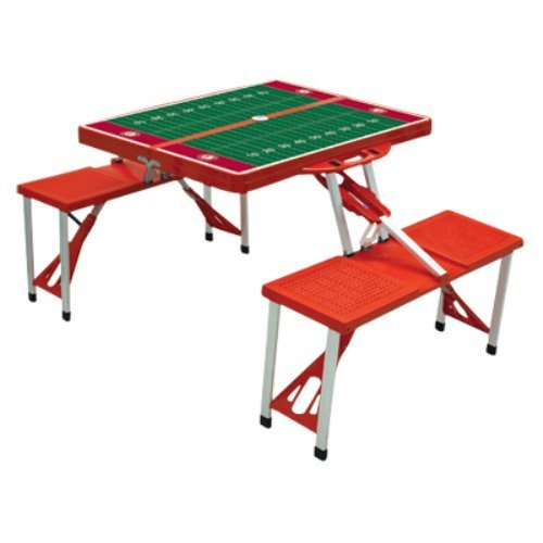 Picnic Time Collegiate Folding Table With Seats