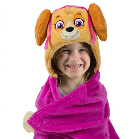 COMFY CRITTERS - NICKELODEON PAW PATROL - SKYE HUGGABLE HOODED BLANKET