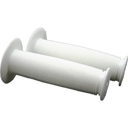 2 Pc White Bicycle Handle Bar Grips Pvc Bike Replacement Parts