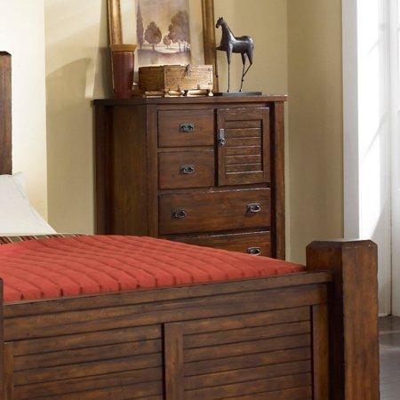 Progressive Furniture Trestlewood 6 Drawer Chest - Mesquite Pine ...