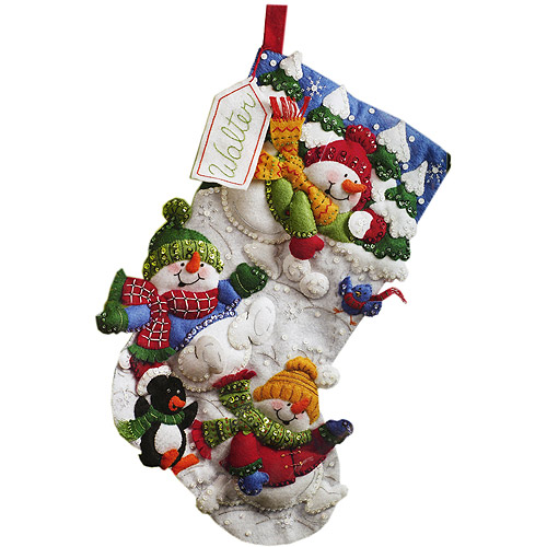 Bucilla Felt Applique Stocking Kit, Snow Fun