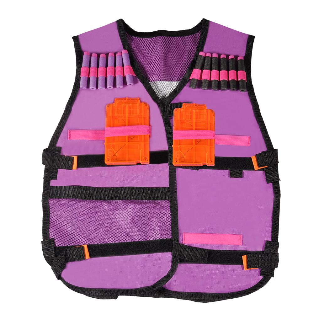 Lv. life Kids Elite Vest Kit Toys with 20PCS Soft Foam Darts & 2 Clips 1 Soft Safety Glasses(purple)