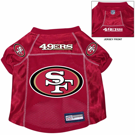 San Francisco 49ers Dog Pet Premium Alternate Jersey SMALL
