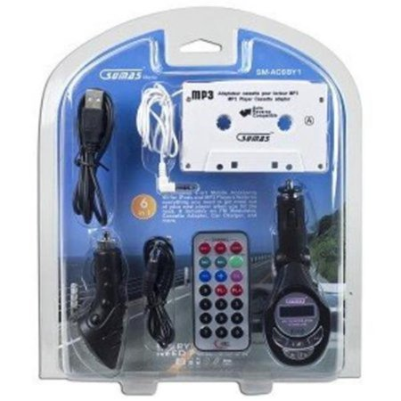 Sumas SM-AC6BY1 6-in-1 Accessory Kit for MP3/iPod w/Cassette Adapter USB Charger FM Transmitter & More!