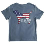Live Oak Brand Youth State Dog American Flag T-Shirt
