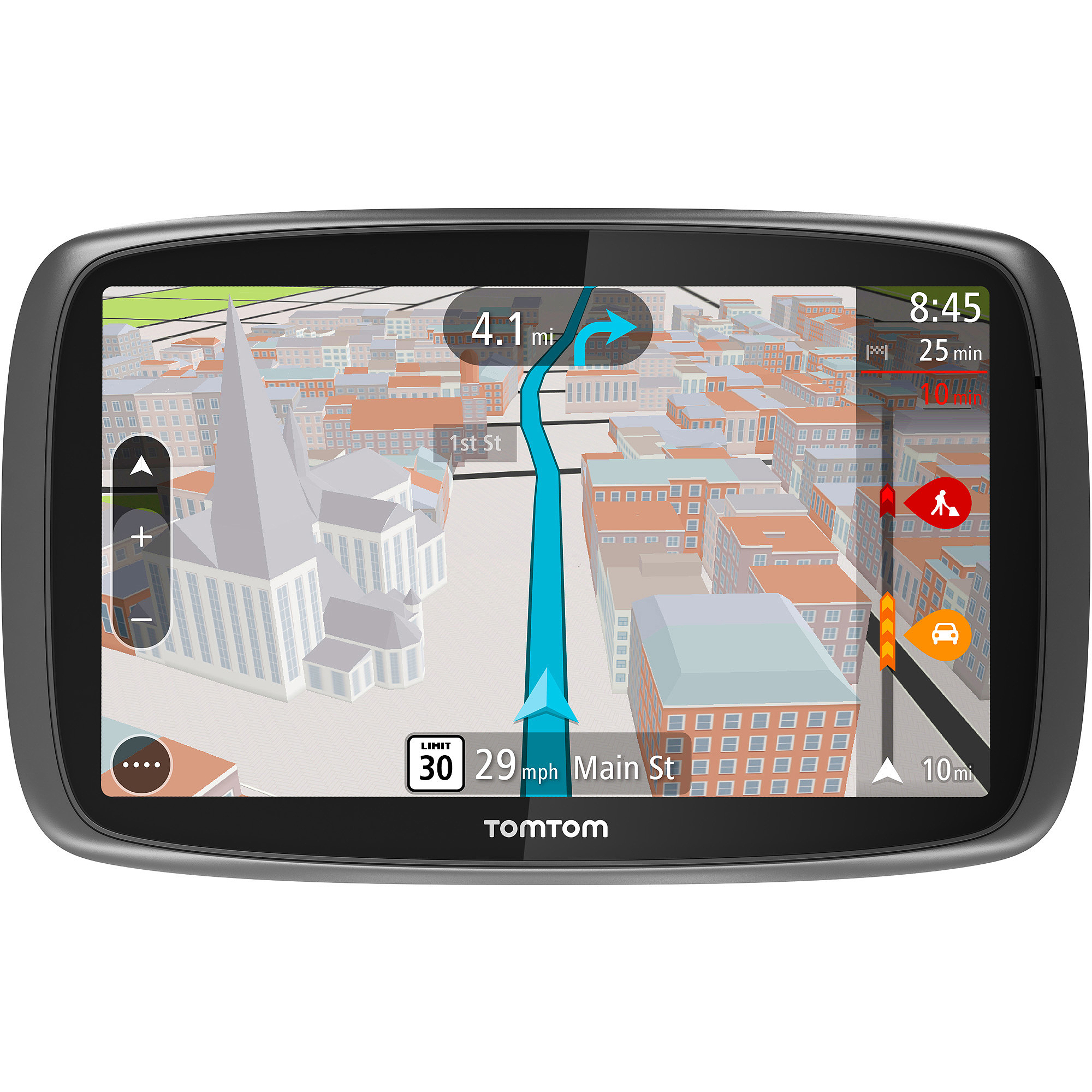 "TomTom GO 600 6"" GPS with Lifetime Map and Traffic Updates"
