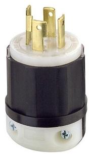 Leviton 2731 30 Amp, 480 Volt 3-phase, NEMA L16-30P, 3P, 4W, Locking Plug, Industrial... by Leviton