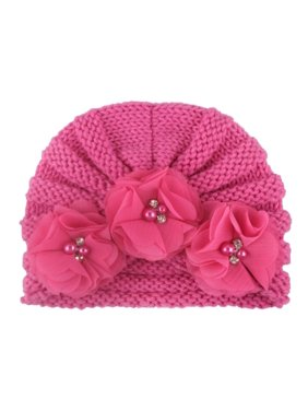 AkoaDa India Cap Childrenand#39;S Infant Baby Scarf Big Flower Bohemian Style Headwrap Hat