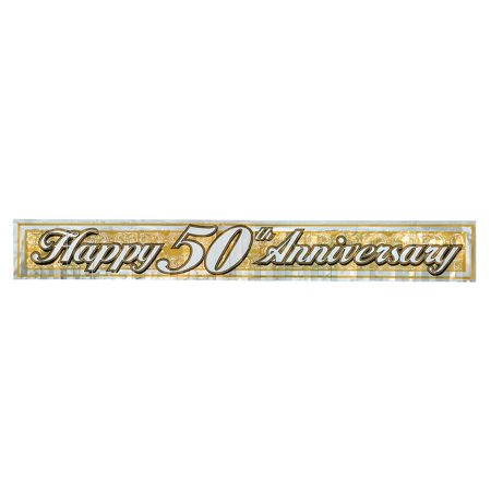 Metallic 50th Anniversary Fringe Banner (gold) Party Accessory (1 count) (1/Pkg), This item is a great value! By Beistle - 50th Wedding Anniversary Ideas