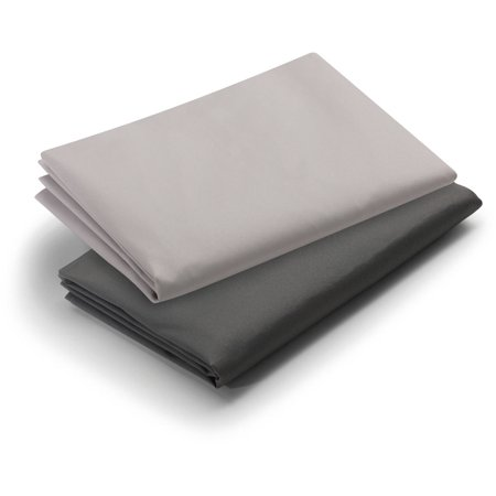 Graco Pack N Play Playard Sheets  2Pk  Dark Grey And Pale Grey