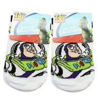 Disney Pixar's Toy Story Buzz Lightyear Kids White Socks (2 Pairs, Size 4-6)