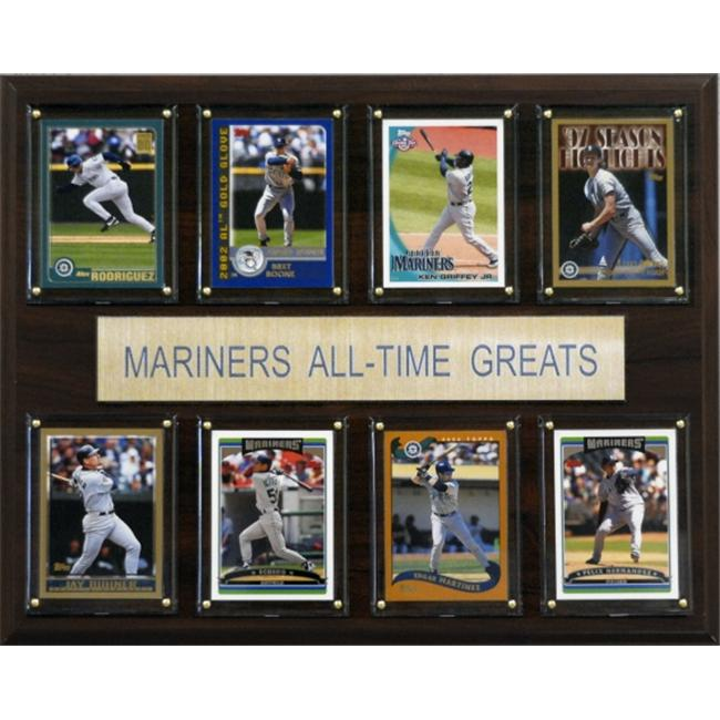 C & I Collectables 1215ATGMAR MLB Seattle Mariners All-Time Greats Plaque